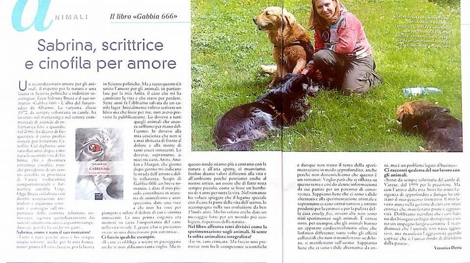 ARTICOLO SABRINA PRESENTAZIONE LIBRO